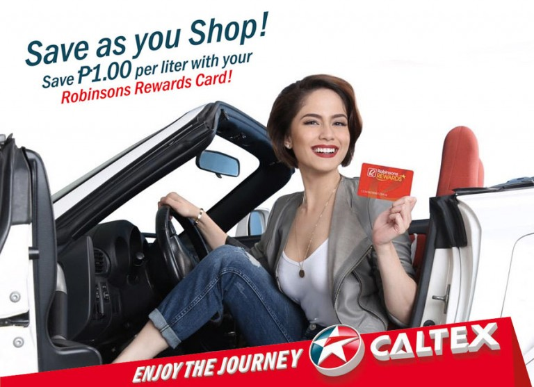 Save P1/liter of fuel with Caltex and Robinsons Rewards Card