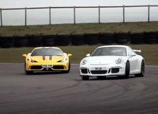 Chris Harris hoons a 458 Speciale vs a 991 GT3 on track