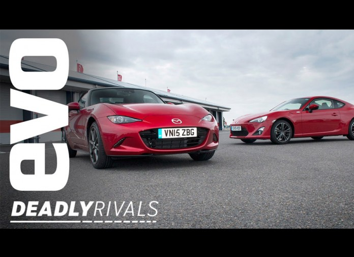 EVO pits the Toyota 86 vs the Mazda MX-5 on track