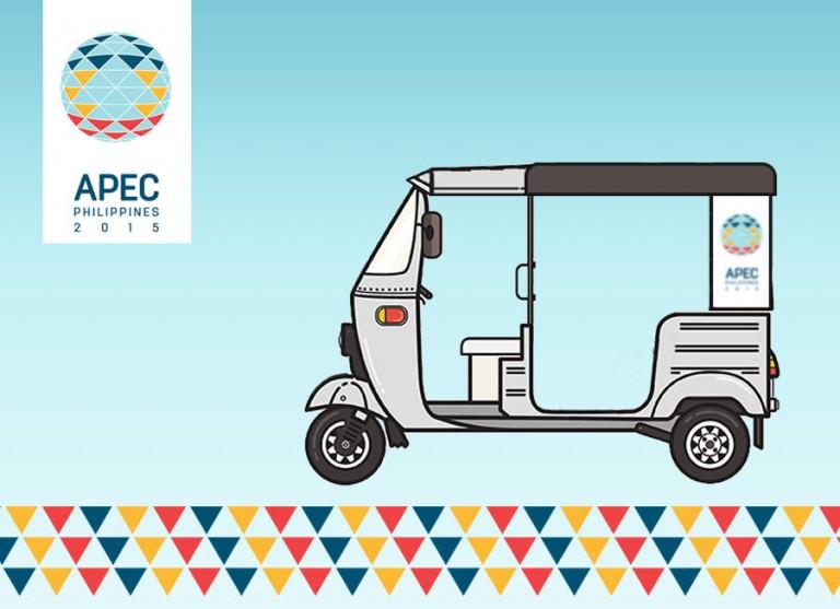 Philippine-built ZüM E-Trikes ferry delegates of 2015 APEC Summit
