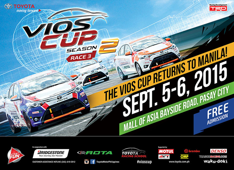 Toyota brings Vios Cup to the Manila Bay Street Circuit this September