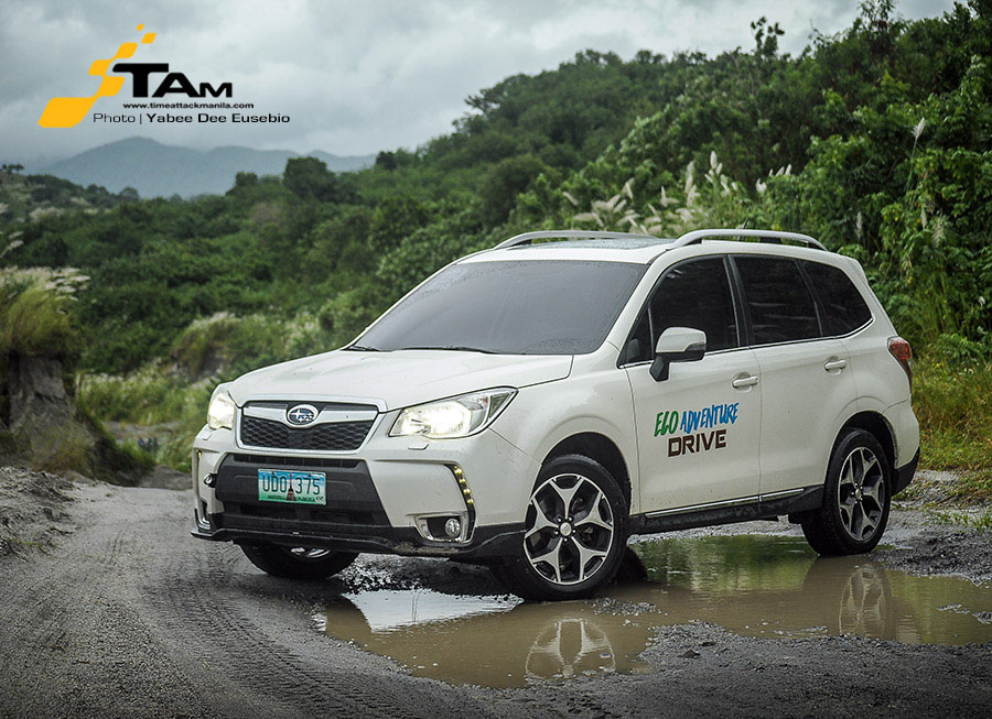 Going green and getting dirty in a Subaru Forester XT