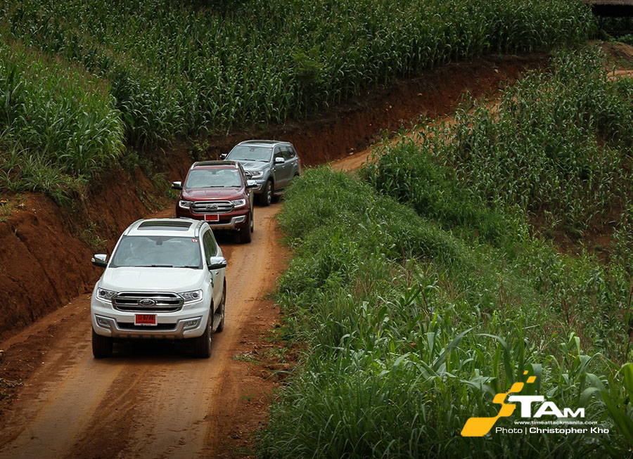 Ford Everest off-road adventure in Chiang Rai