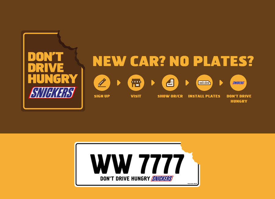 Snickers is making free car license plates … because LTO can't