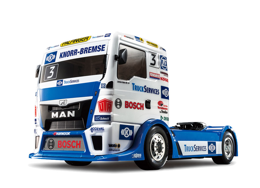 Tamiya has built an awesome 1/10 scale MAN TGS racing truck RC