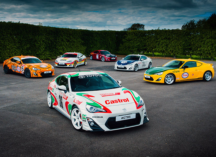 86 pays homage to Toyota's motorsports heritage with classic liveries