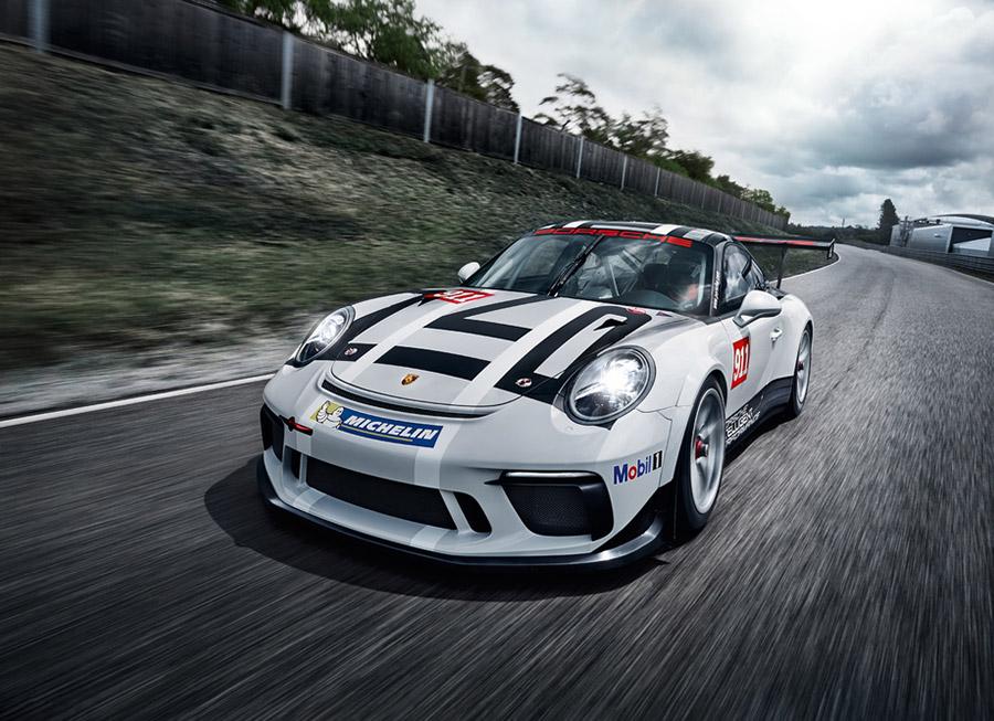 Porsche stuffs a bigger 4.0L flat-6 in the updated 911 GT3 Cup car