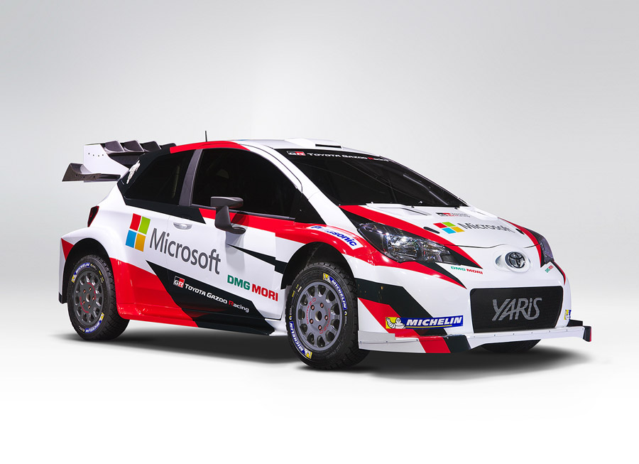 A first look at Toyota GAZOO Racing\'s un-camouflaged Yaris WRC