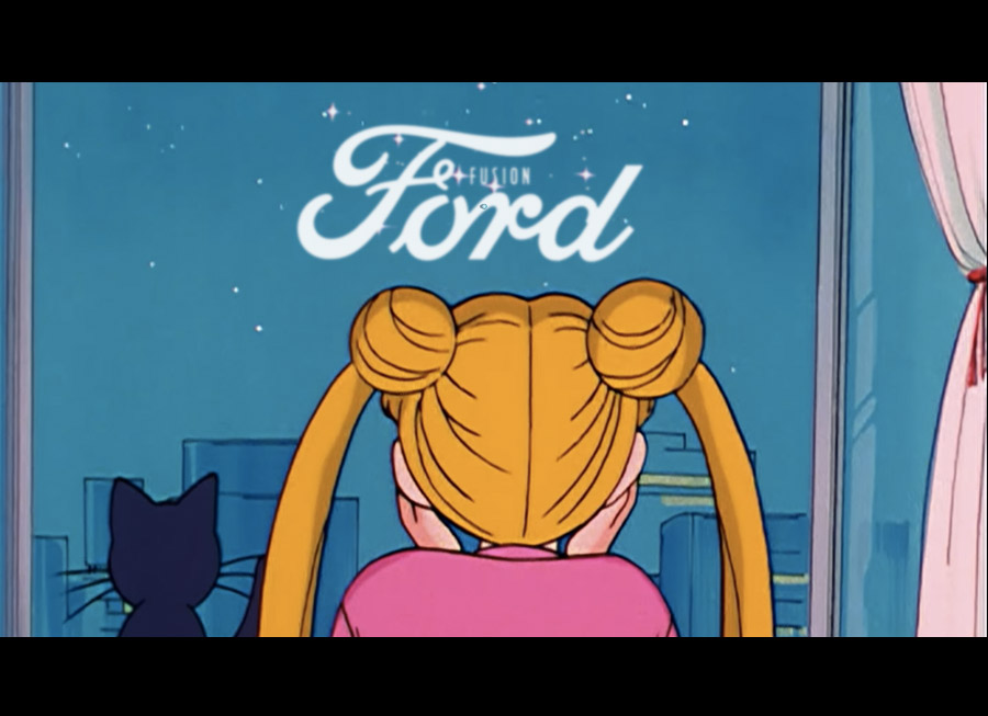 Seeing Sailor Moon in an official Ford commercial is high AF