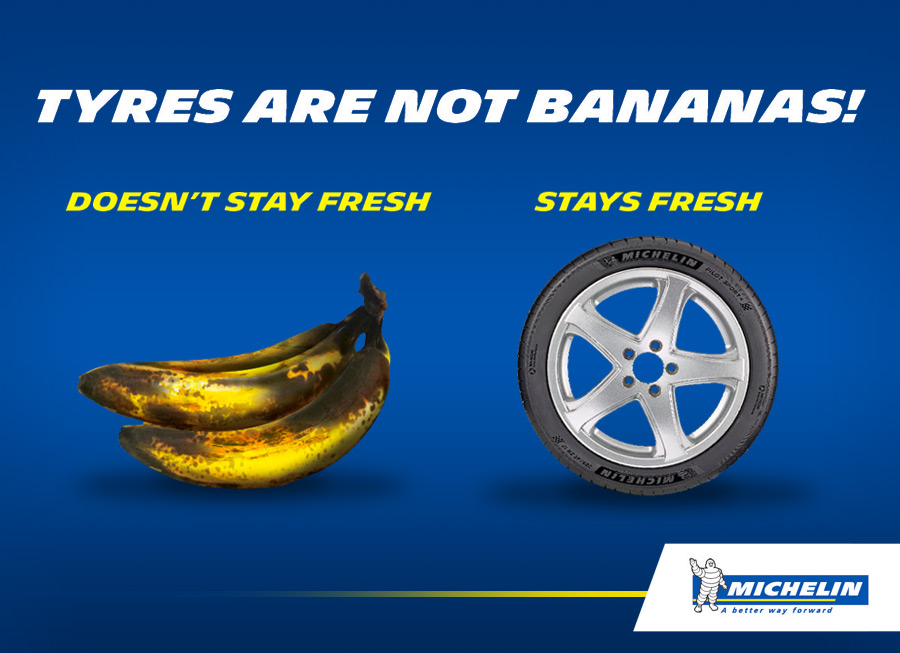Michelin affirms that Michelin tires do not expire with age