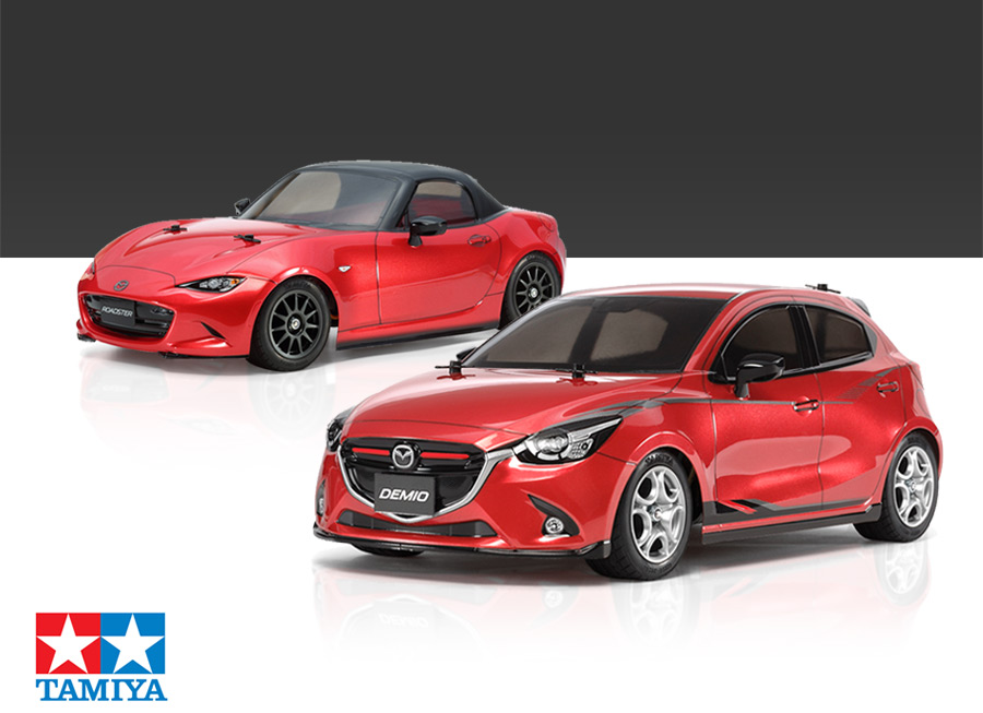 Tamiya made a Mazda 2 and MX-5 1/10 scale RC that you can drive anywhere
