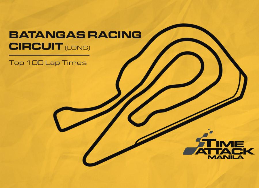 Batangas Racing Circuit (Long) | Top 100 Lap Times