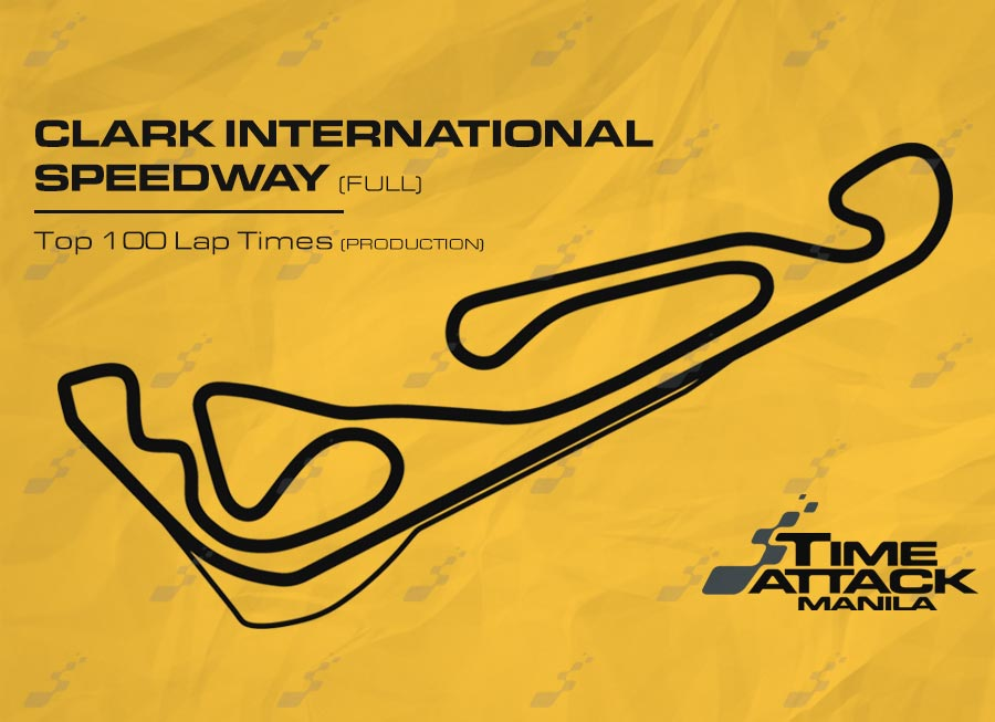 Clark International Speedway (Full) | Top 100 Lap Times (Production)