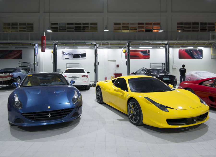 What the new Ferrari-Maserati Service Center in Makati looks like inside