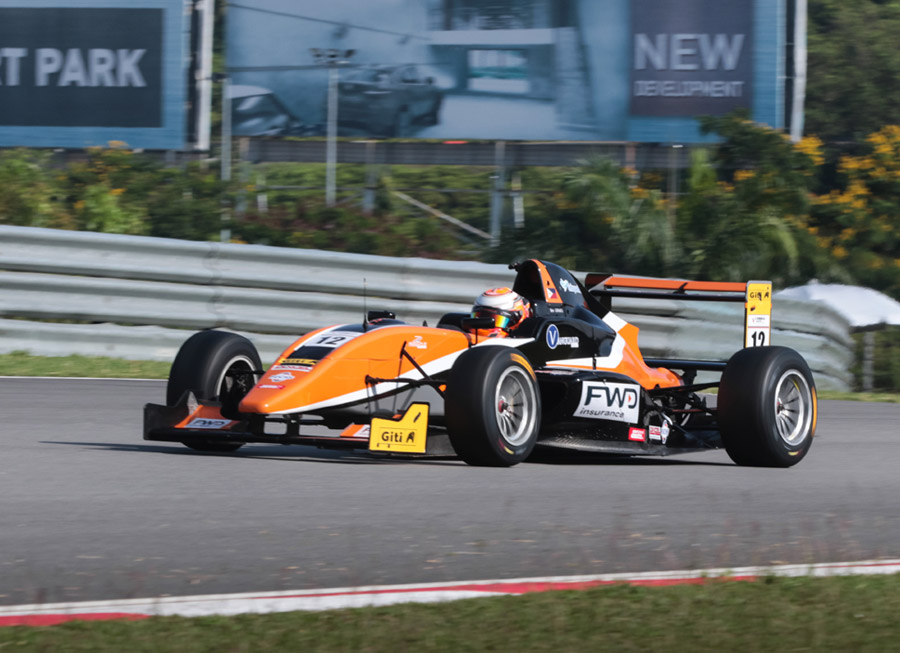 Strong start for Ben Grimes on his first Formula Masters race at Sepang