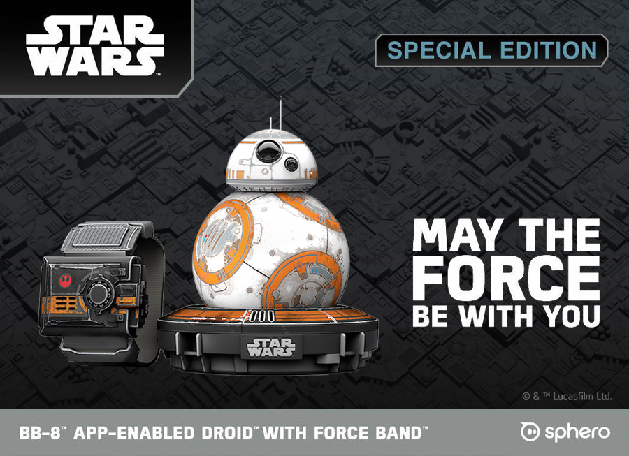 Pre-order Sphero's Force Band and battle-worn BB-8 at Hobbes and Landes