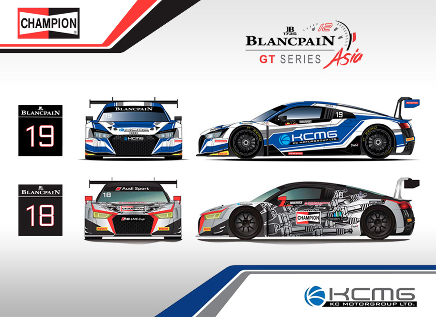 KCMG will run a pair of Audi R8 LMS GT3s at the Blancpain GT Series Asia
