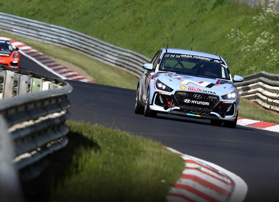 A pair of Hyundai i30 N hatchbacks raced the Nürburgring 24 Hrs