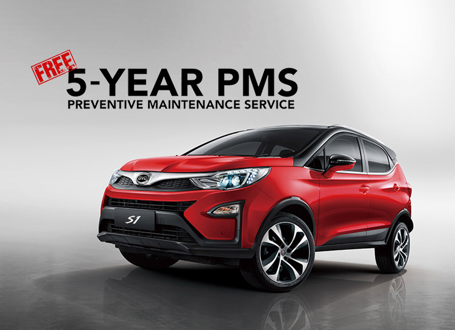 BYD begins selling cars with FREE 5-year Preventive Maintenance Service