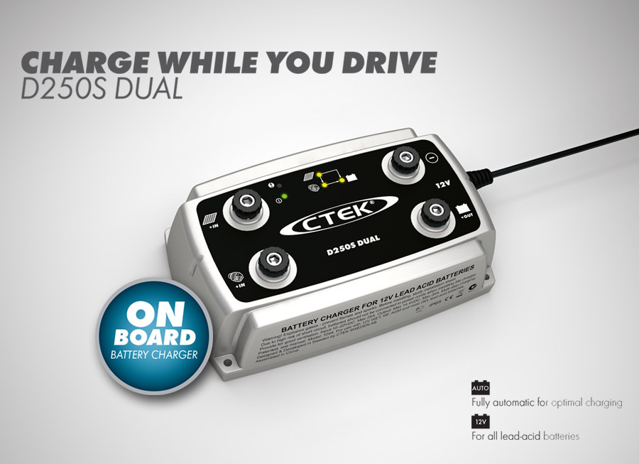 CTEK's new D250S Dual will charge your batteries while you drive