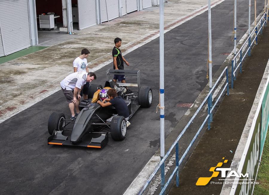 Formula Abarth single seater test in BRC