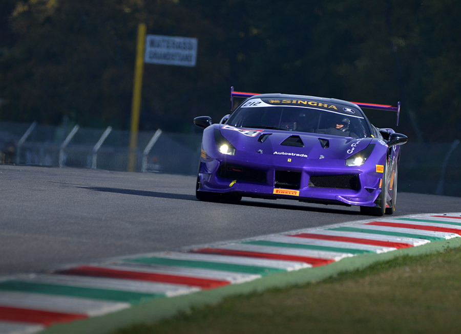 Angie King raced at the Ferrari Challenge Finali Mondiali and won