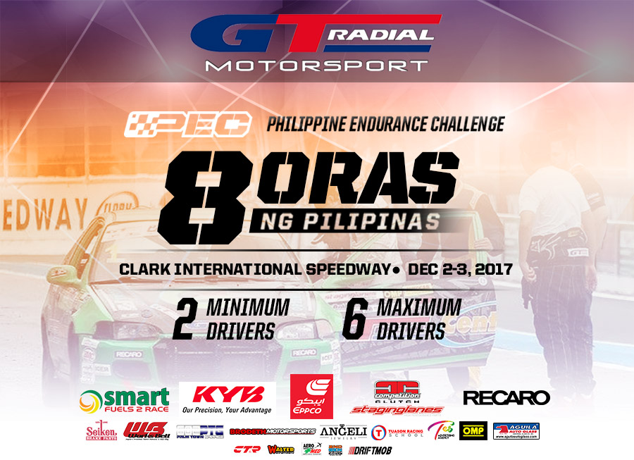 This is the full 33-car entry list for the GT Radial x 8 Oras ng Pilipinas