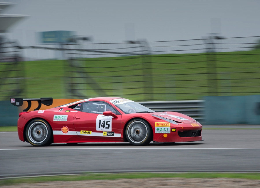 Floirendo 5th in Shanghai for 2014 Ferrari Challenge Asia Pacific