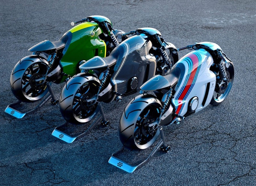 Lotus' C-01 motorcycle is high tech exotica born out of Tron