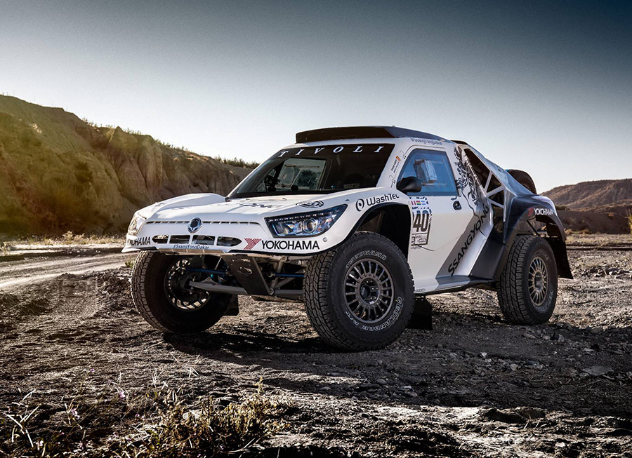 SsangYong entered a Tivoli DKR at the Dakar Rally and finished
