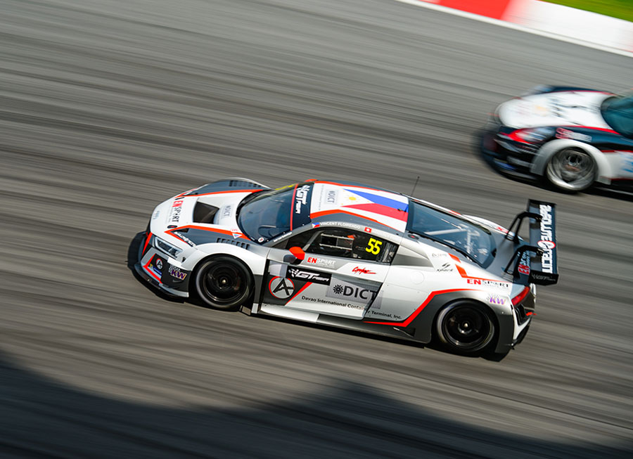 Vincent Floirendo is back racing his Audi R8 LMS this weekend in GT Asia