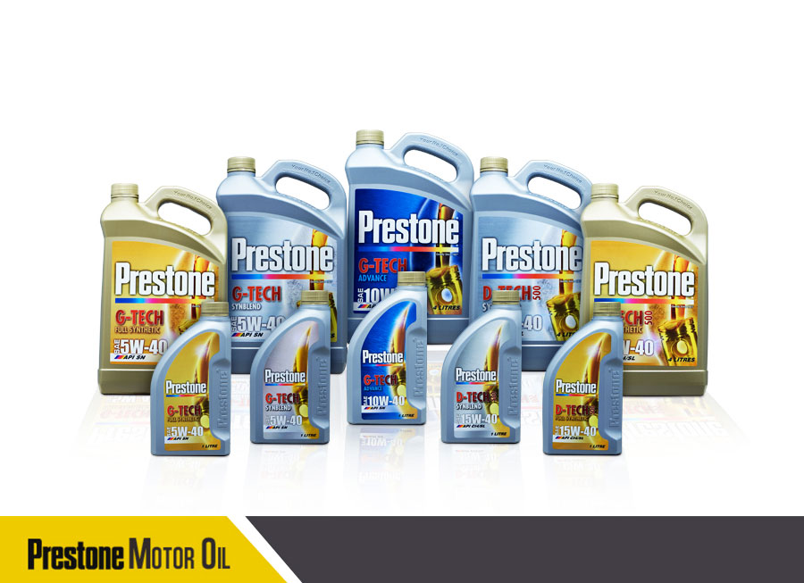 Prestone Ph now has its own line of gasoline and diesel Motor Oils