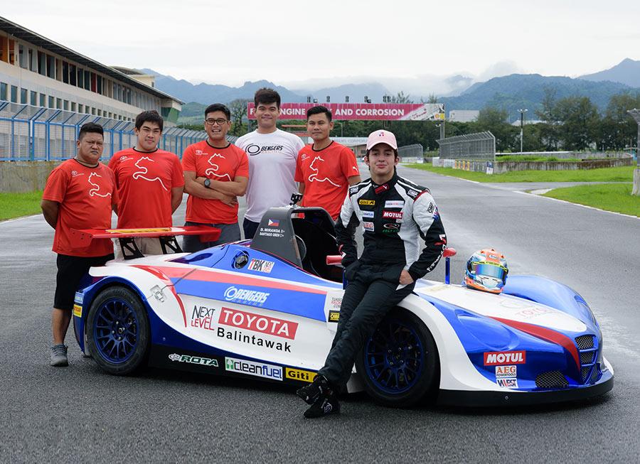 Toyota Balintawak-Obengers gears up for Formula V1 Challenge with Daniel Miranda