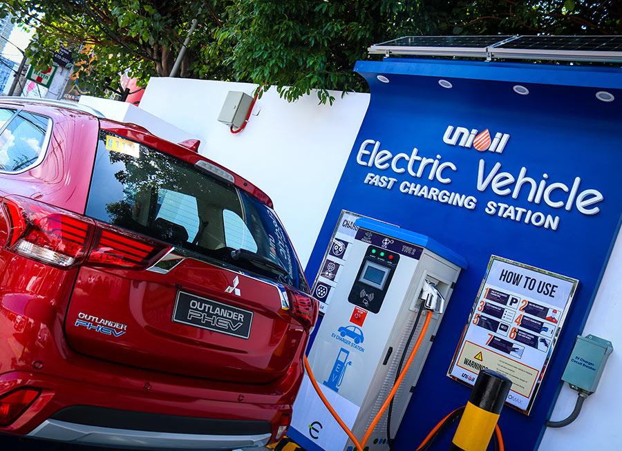 Low batt? Unioil now offers an EV Fast Charging Station along EDSA