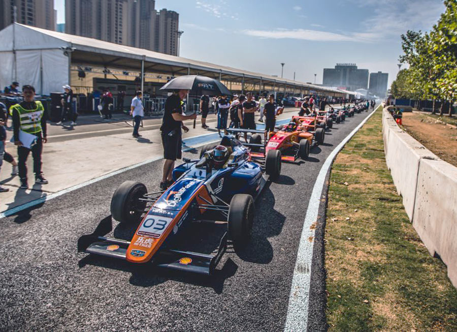 Pinnacle Motorsport, Dempsey lands podium in tricky F4 street race at Wuhan