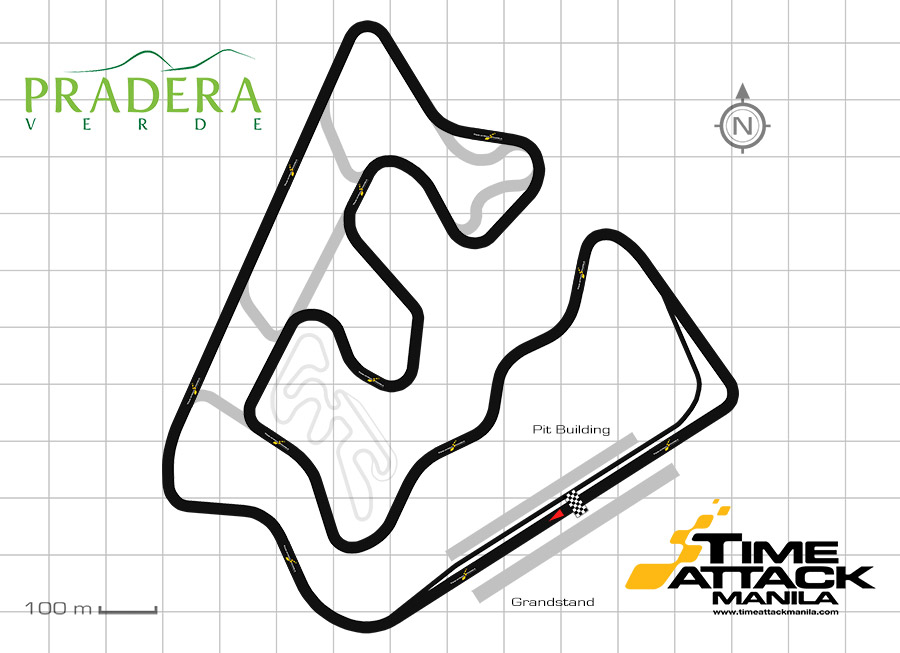 These are the different layouts of the Pradera Verde Racing Circuit