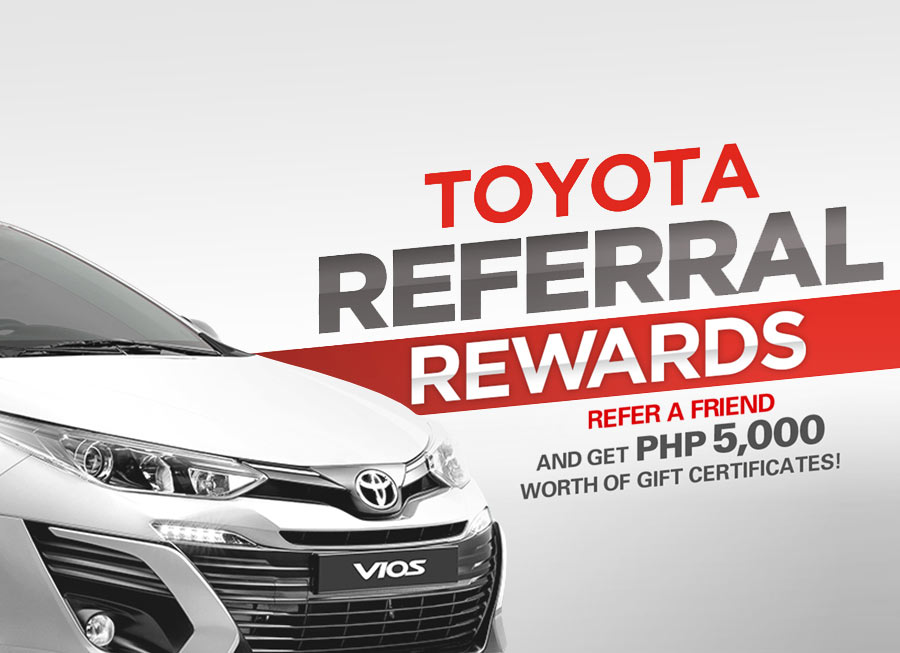 Toyota offers a 'bonus' to anyone who refers a friend to buy a Vios