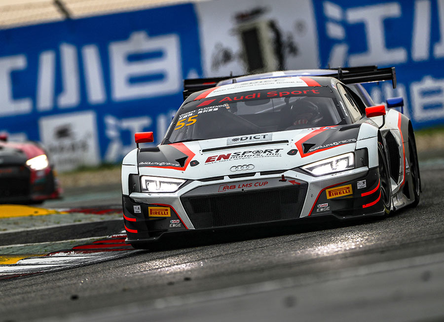 Podiums for Vincent Floirendo in tough Audi R8 LMS race at Shanghai