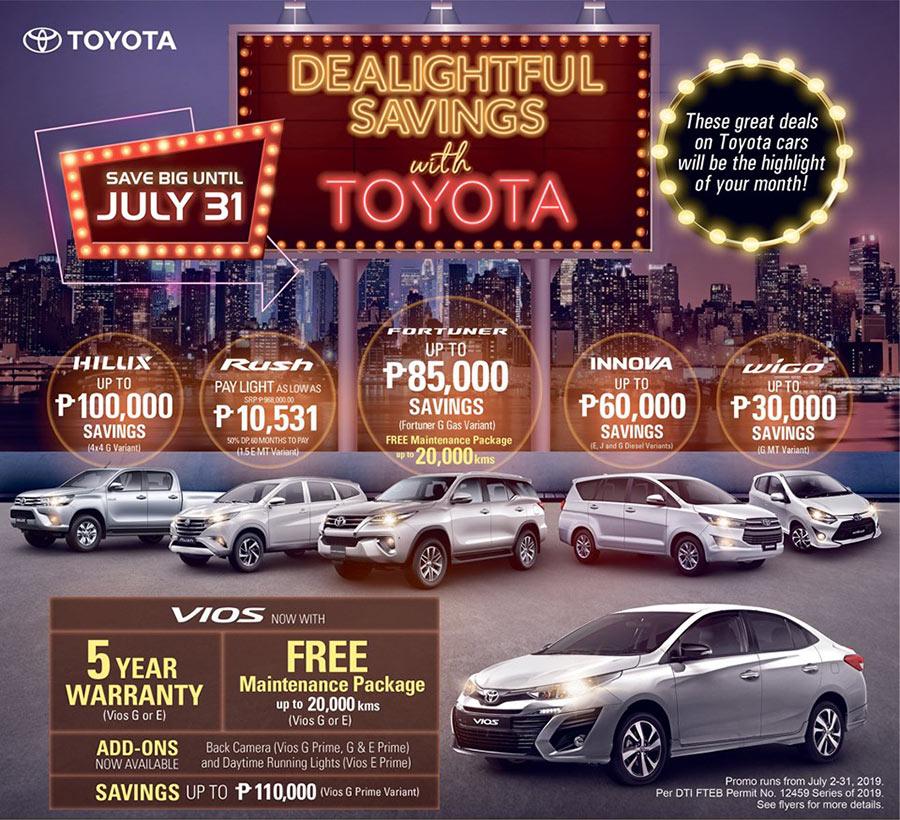 Toyota Dealightful Savings