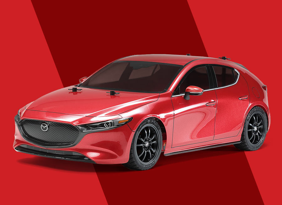 There's now an RC version of the 2019 Mazda 3 Sportback from Tamiya