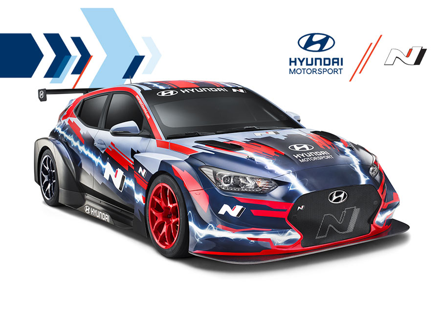 Hyundai Motorsport ready-to-race with RWD battery-powered Veloster N ETCR