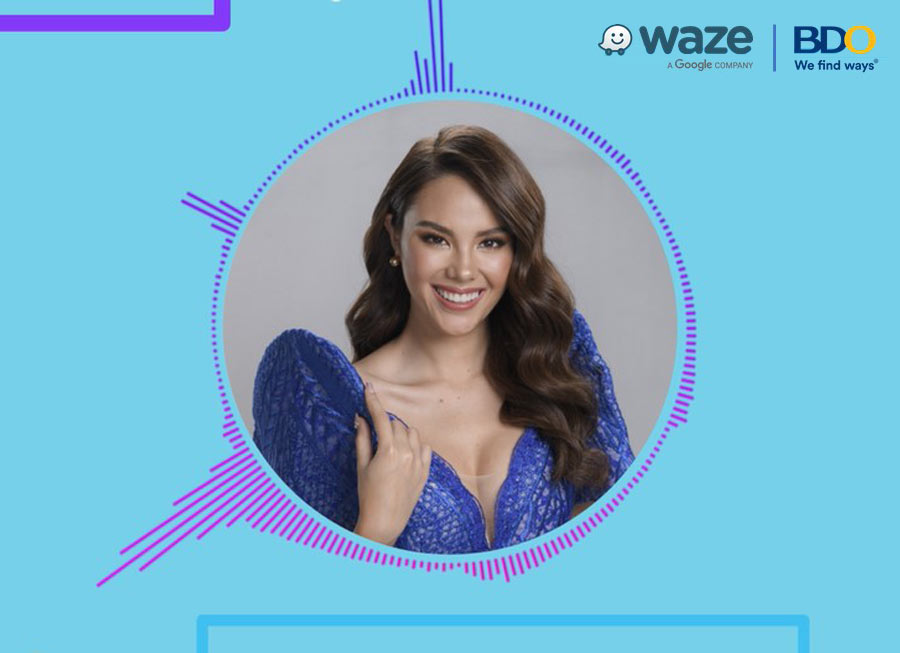 Catriona Gray can now give you driving directions on Waze