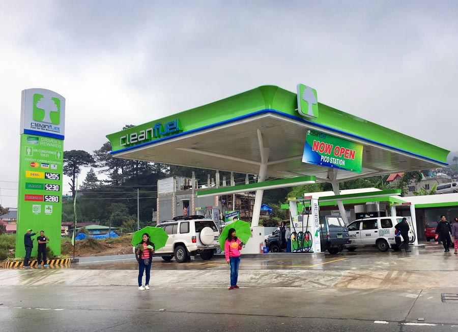 There's now a second Cleanfuel Station in La Trinidad, Benguet along Pico Road