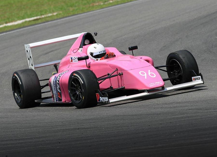 John Dizon completes maiden Formula 4 SEA race outing at Sepang
