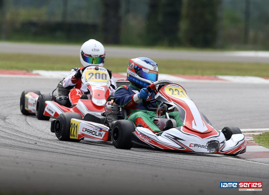 Miguel Quiñones completes first Senior Class race at the IAME Asia Cup