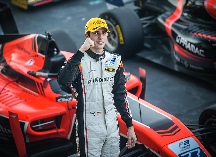 Sebastián Fernández leads Pinnacle Motorsport's F3 Asian 1-2 finish at Yas Marina