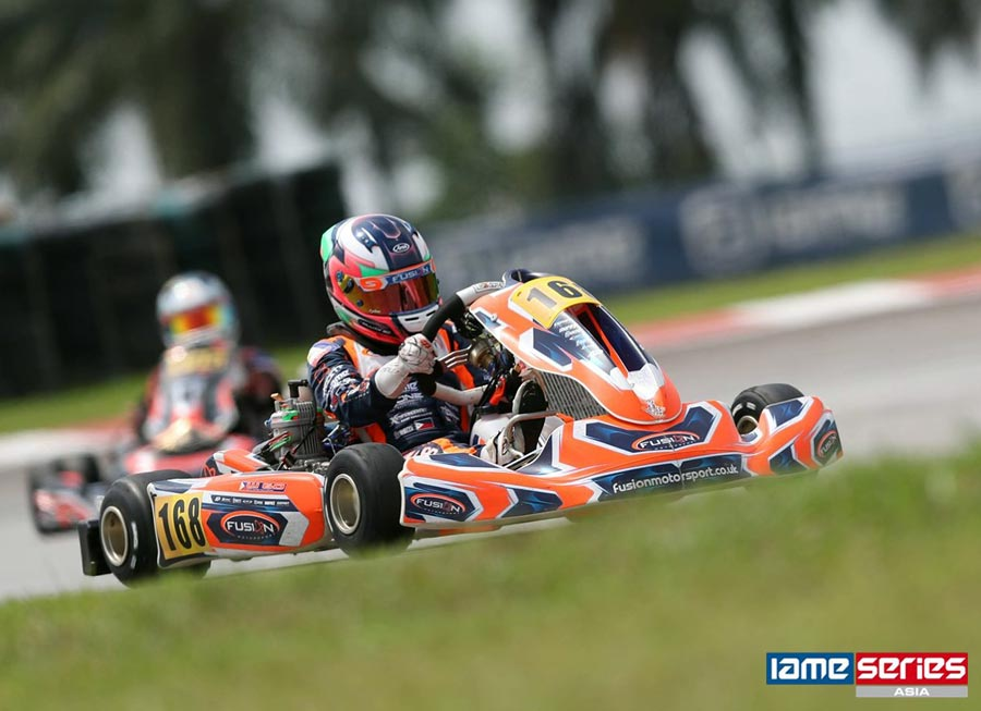 William Go lands impressive 2nd on Junior Class debut at IAME Asia Cup
