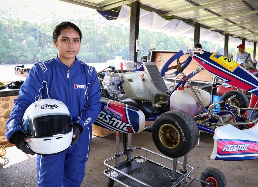 Lady karter Shasha Quiñones earns Junior Class podium in AKOC Sentul