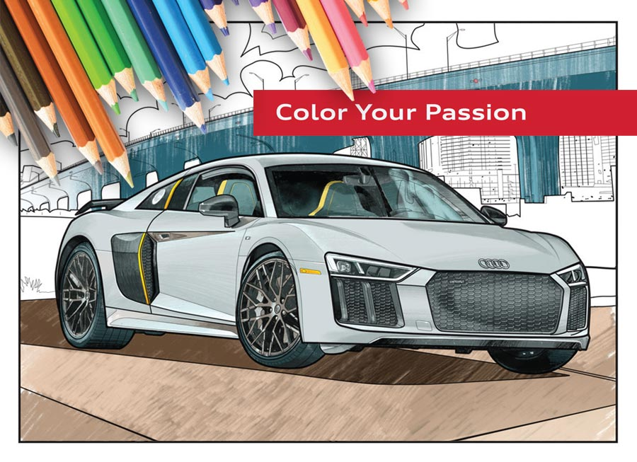 Audi creates free-to-download Coloring Book to help you through the 'lockdown'