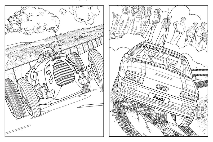 Audi Creates Free To Download Coloring Book To Help You Through The Lockdown